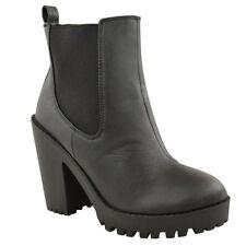 item 7 Womens Black Winter Chelsea Ankle Boots Low Block Heel Bargain Price  Ladies New Womens Black Winter Chelsea Ankle Boots Low Block Heel Bargain  Price