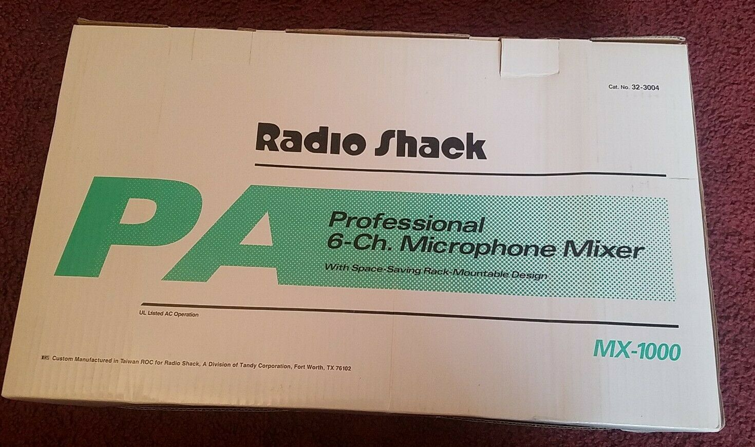 Radio Shack MX-1000 6-Channel Microphone Mixer - Used  NEW IN BOX . Buy it now for 59.95