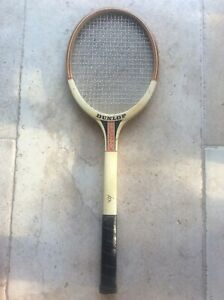 Vintage Dunlop Britannic Grip 4 Tennis Racket 1960s Prop Window Display