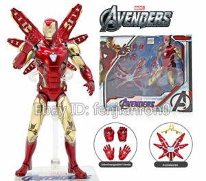 ZD-TOYS-Armored-MK85-Iron-Man-Avengers-Endgame-Marvel-7-034-Action-Figure-mark-85