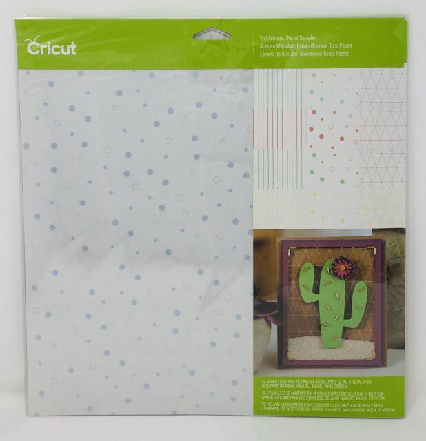 "Cricut 2003640 Foil Acetate 12/"" x 12/"" Pastel Sampler"