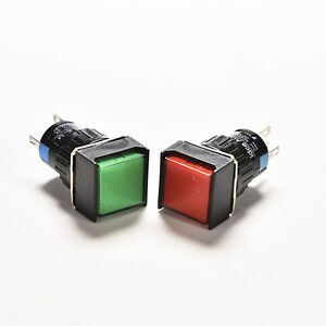 16mm-12V-DC-Push-Button-Self-Reset-Switch-Square-LED-Light-Momentary-LatchiP-P0