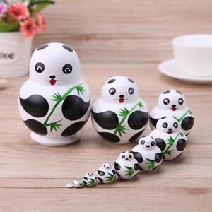 10pcs-Set-Panda-Russian-Matryoshka-Doll-Hand-Painted-Nesting-Dolls-Gift-Basswood