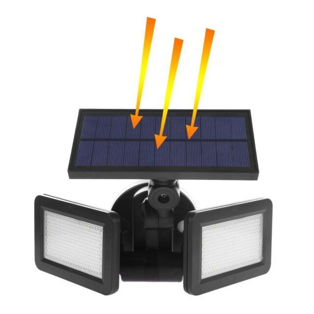 Solar Außen 48LED Wandleuchte mit Bewegungsmelder Spot Strahler Haus Gartenlampe