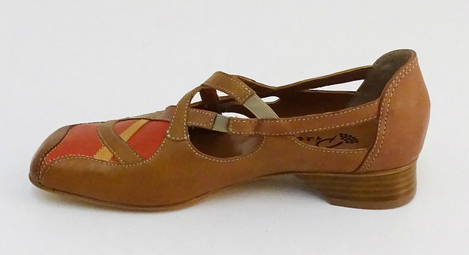 Slipper Piazza Pumps 38 Echtleder braun, orange Gr. 38 Pumps e06e9b