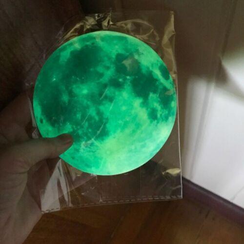 Wall Moon 3D Sticker Glow Luminous Decal Wall Room Decor Dark Earth Planet Kids