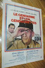 LOUIS DE FUNES LE GENDARME ET LES GENDARMETTES 120x160 AFFICHE FRENCH POSTER