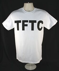 White-Geocaching-T-Shirt-TFTC-Black-Letters-Geocache-Shirt-Size-M-L-XL-2XL-3XL