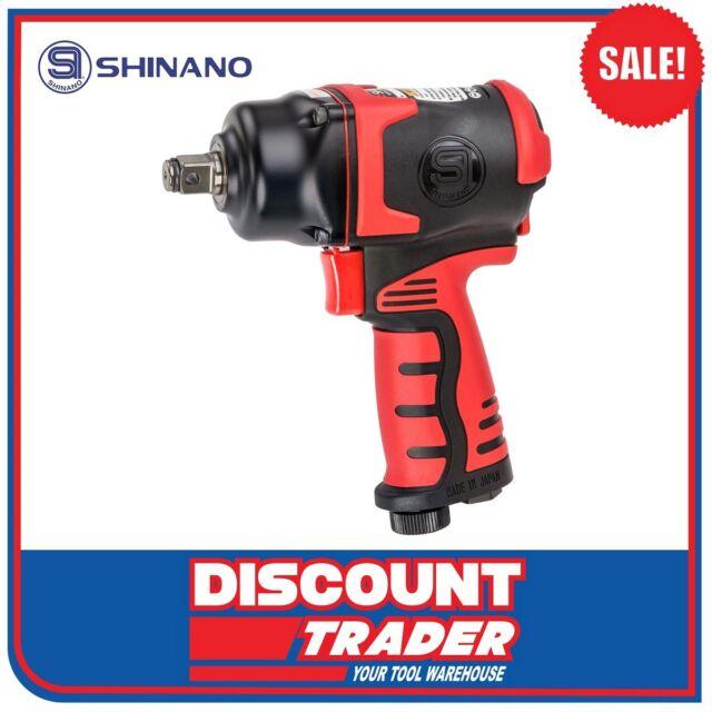 "Shinano Pneumatic Air 1/2"" Twin Hammer Compact Lightweight Impact Wrench SI-1610"