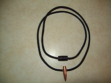 """US SNIPER """"HOG"""" TOOTH .30 cal  NECKLACE LANYARD 550 PARACORD  (USA SELLER)"""