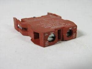 Siemens-3SB1-400-0B-Contact-Block-1NO-6A-230VAC-WOW
