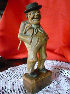 Alte Holz Skulptur Ur-bayer Von Alois Ohmayer Meisterliche Arbeit 19 Cm Hoch