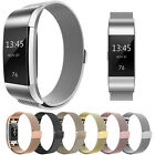 Milanais magnétique métal boucle bracelet pour Fitbit Charge 2 montre @