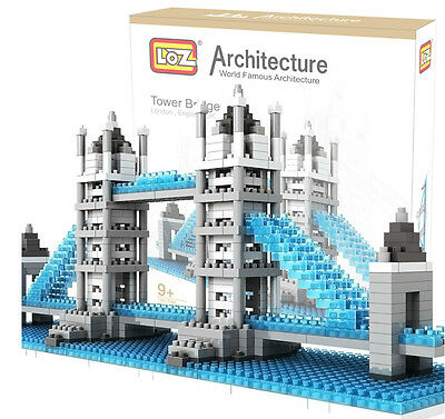 LOZ Nano Architecture Britain UK LONDON Tower Bridge Model Building Block ToyF
