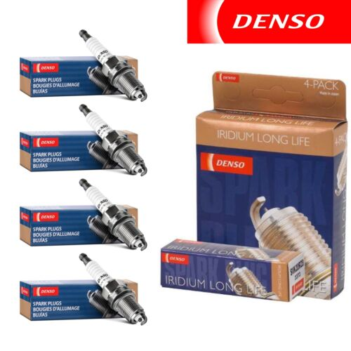4 pcs Denso Iridium Long Life Spark Plugs 2007-2013 Honda Fit 1.5L L4 Kit