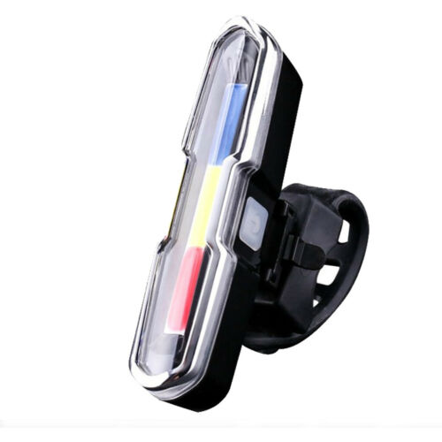 COB LED USB Rechargeable Bike Tail Light Bicycle MTB Cycling Warning Rear Lamp