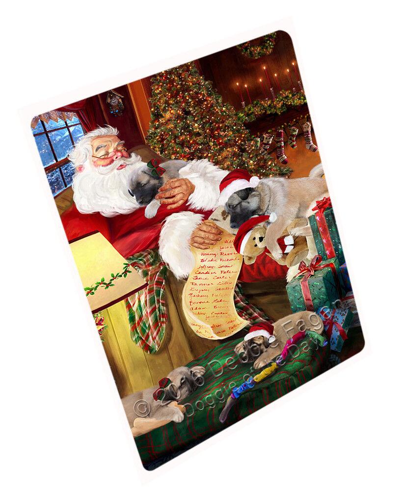 Anatolian Shepherds Hund and Puppies Santa Woven Throw Sherpa Blanket T150