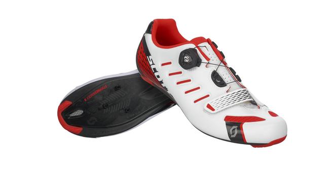 Schuhe ROAD SCOTT ROAD Schuhe TEAM BOA Farbe Weiß-rot NEON 0cca29