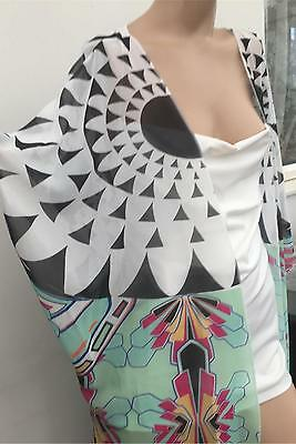 STUNNING New Resort Art Deco MAXI KIMONO BEACH COVER UP Size 20-22 Last Few