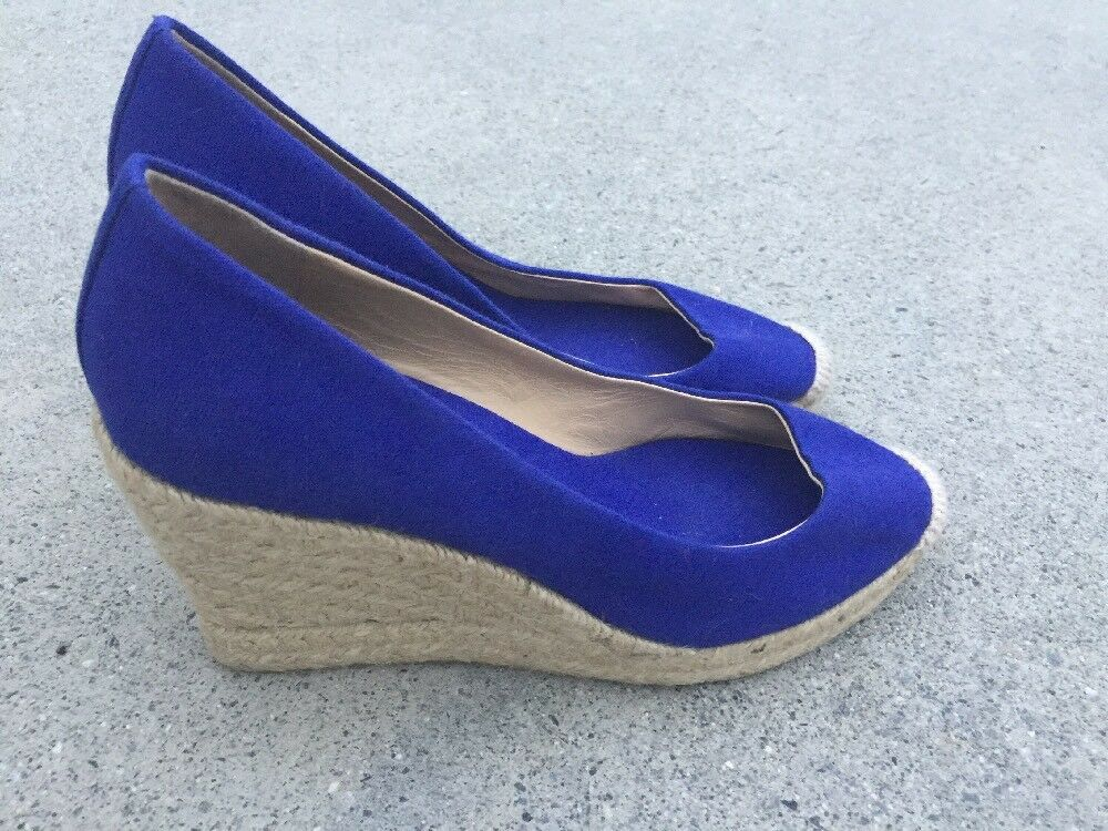 J CREW Cobalt Blau Heels Wedges Platforms Pumps High Heels Blau SEXY Damenschuhe Größe 7 �b1 1dc8d7