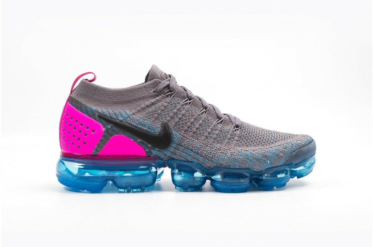 Nike Air Vapormax Flyknit 2 Gunsmoke Blue Orbit Comfortable Comfortable and good-looking