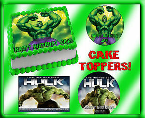 The Incredible Hulk CAKE topper Edible sugar Paper tops picture