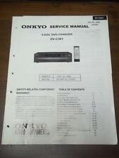 Original Onkyo Service Manual for the DV-C501 DVD Changer~Repair