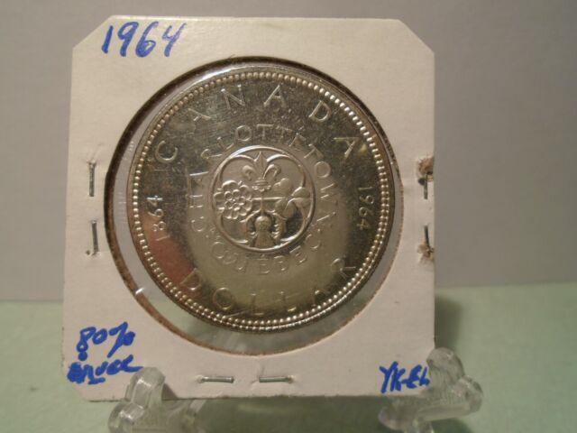 1964 CANADA SILVER DOLLAR BU / MS / UNC /PL