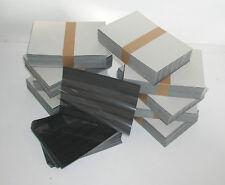 EINSTECKKARTEN STECKKARTEN mit Folie A5 5 Streifen 500 Stück schwarzer Karton
