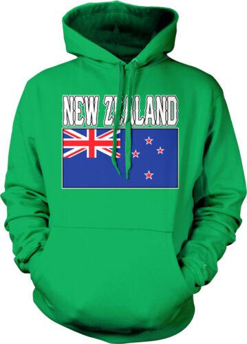New Zealand Flag Colors Font Zealandish Soccer Heritage NZL NZ Hoodie Sweatshirt