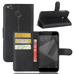 lowest price 4df98 ab9cd Details about Flip Magnetic Card Slot Wallet PU Leather Phone Case Cover  For Xiaomi Redmi 4X