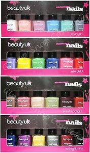 Beauty-UK-6-Piece-Nail-Varnish-Polish-Art-Gift-Set-XMAS-BOXED-Stocking-Filler