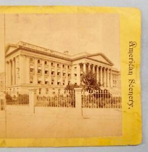 Stereoview-Washington-DC-American-Scenery-United-States-Treasury-Building-O