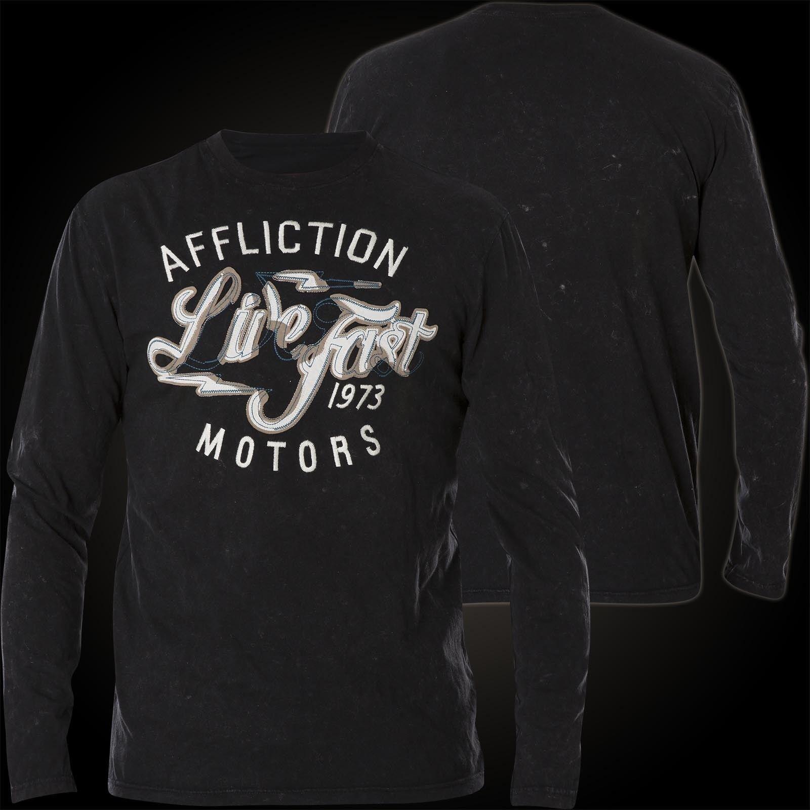 AFFLICTION Pullover Motors Church Stitch Schwarz Sweatshirts