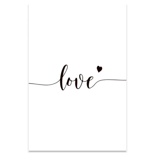 Nordic Romantic Black/&White Minimalist Hand In Hand Canvas Painting Wall Prints