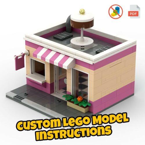 LEGO City Cake Shop Building Custom Model .PDF INSTRUCTIONS NO BRICKS!
