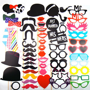 58 photo booth props moustache on a stick weddings christmas birthday party f. Black Bedroom Furniture Sets. Home Design Ideas