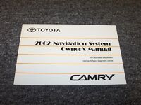 2002 Toyota Camry Navigation System Owner Owner's Operator Manual Le Se Xle