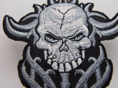 Skull Embroidered Iron On Patches,Motorbikers,Bike Club,Patches,Devil,Horror