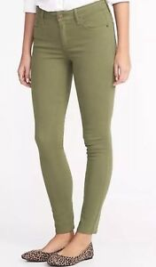 ad225d0dcc0 Details about BNWT Old Navy Women's Size 14 Mid-Rise Rockstar Super Skinny  Jeans Olive