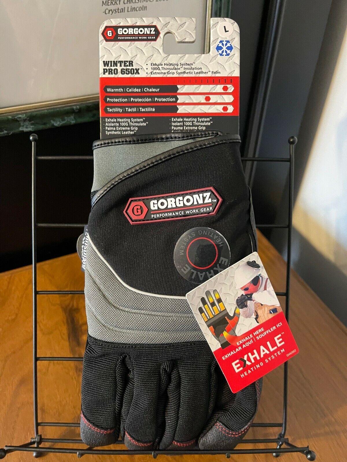 GORGONZ Men's Extreme Grip-100G Thinsulate-WINTER PRO 650X GLOVES - Size L -NEW