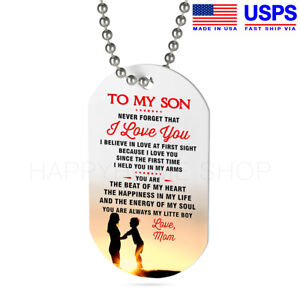 Dog Tag Birthday Gift for Grandson from Grandpa I Always Carry You in my Heart