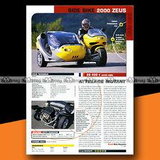 ★ SIDE-CAR SIDE BIKE 200 ZEUS ★ 2002 Essai Moto / Original Road Test #a1250