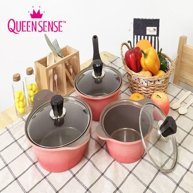 Queen Sense Ceramic Coating 3 Pots Set rose Gradation