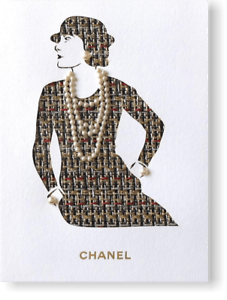 Chanel-Man-Ray-Trust-Greeting-Card-of-Coco-with-real-Tiny-Pearls-Gripoix-Rare