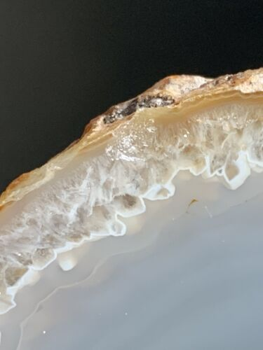 """Details about  /Carnelian Agate Geode Half Thunder egg Oregon  6"""" Tall"""