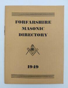 "Vintage Masonic Book "" FORFARSHIRE MASONIC DIRECTORY 1949"""