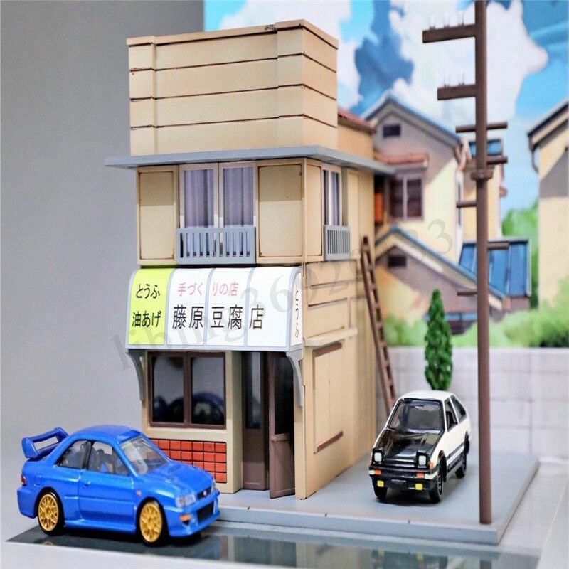 1 64 Scene LED Light Model For Initial D Fujiwara Tofu Shop Kit Diorama Set