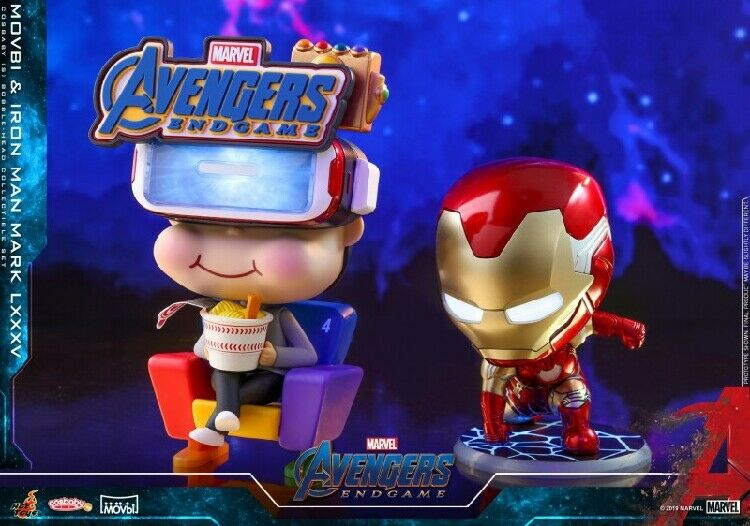 Movbi & Iron Man Mark LXXXV Figure Hot Toys Cosbaby Bobble-Head Avengers Endgame