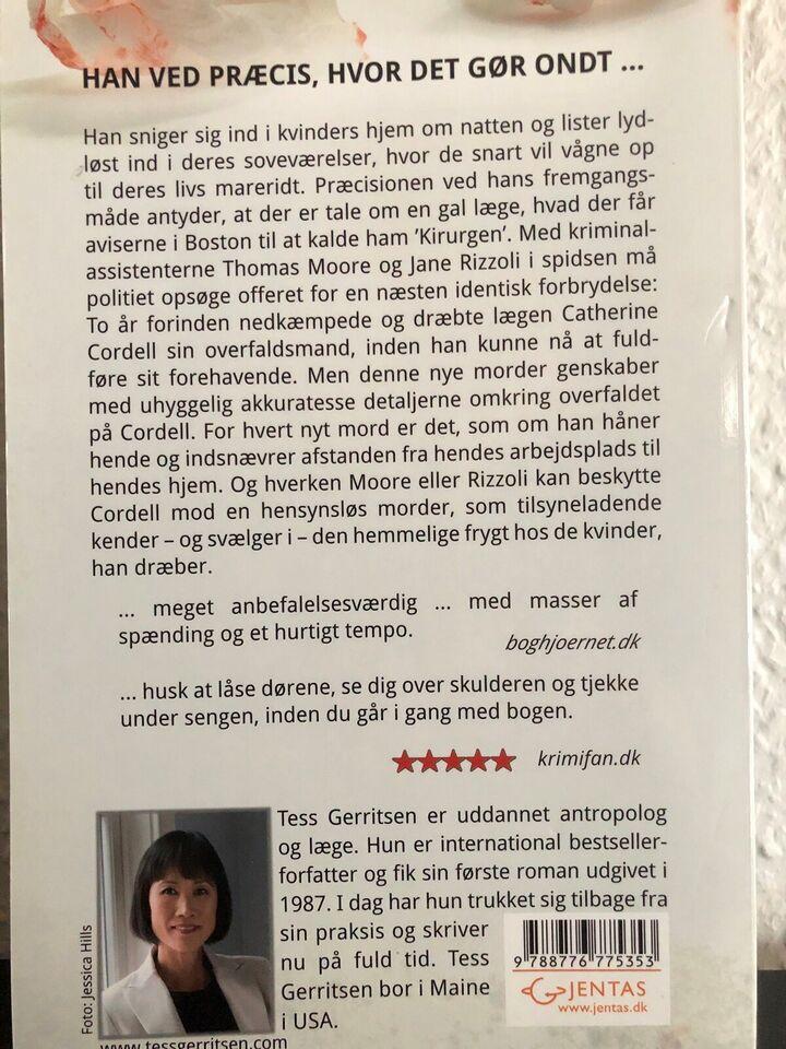 Kirurgen, Tess Gerritsen, genre: krimi og spænding